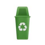 El corte del papel de la papelera de reciclaje verde es puede reciclando a la basura para e Imagen de archivo