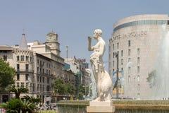 El Corte Ingles Plaza Catalunia Barcelona. El Corte Ingles superstore facade in Plaza Catalunia, Barcelona, Spain stock images