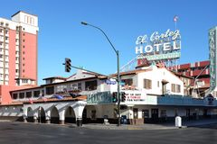 El Cortez Hotel and Casino. LAS VEGAS - DECEMBER 7, 2017: El Cortez Hotel and Casino. It is one of the oldest casino hotel properties in Las Vegas, in continuous Stock Photography