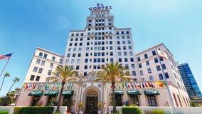 El Cortez Hotel in San Diego royalty free stock images
