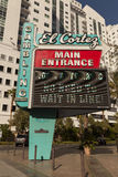 El Cortez Sign in Las Vegas, NV on April 21, 2013 Royalty Free Stock Image