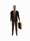 El cortoon del hombre de negocios rinde sobre blanco. Fotos de archivo libres de regalías