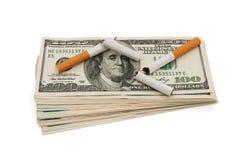 El coste de fumar Foto de archivo libre de regalías