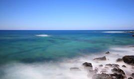 El Cotillo村庄在费埃特文图拉岛,加那利群岛北部的。 图库摄影