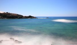 El Cotillo村庄在费埃特文图拉岛,加那利群岛北部的。 库存图片