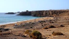 El Cotillo повреждает как вулканический пляж змея, Фуэртевентура, Канарские острова, Испания стоковая фотография