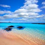 El Cotillo beach Toston lighthouse Fuerteventura Royalty Free Stock Photography