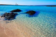 El Cotillo beach Toston lighthouse Fuerteventura Stock Photos