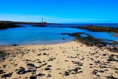 El Cotillo beach Toston lighthouse Fuerteventura Stock Photography
