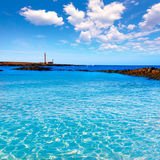 El Cotillo beach Toston lighthouse Fuerteventura Royalty Free Stock Images