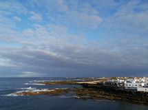 El Cotillo a fishing village at the west coast of Fuerteventura Royalty Free Stock Photography