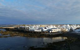 El Cotillo a fishing village at the west coast of Fuerteventura Stock Photography