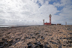 El Cotillo LightHouse, Fuerteventura, Spain Royalty Free Stock Photos