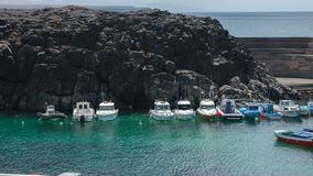 El Cotillo little harbour. Fuerteventura. Canary Islands royalty free stock photos