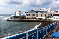 El Cotillo on the seafront, Fuerteventura - Canary Islands. Situated on the northwest corner of Fuerteventura whith fantastic beaches and lagoons, Spain stock image
