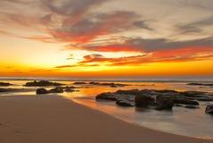 El Cotillo Seascape. Sun set on El Cotillo beach, Fuerteventura, Canary Islands, Spain Stock Photography