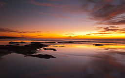 El Cotillo sunsets. Sunset on El Cotillo  beach on the north west of Fuerteventura Royalty Free Stock Photos