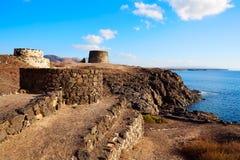 El Cotillo Toston tower fuerteventura Canary island Stock Photo