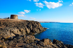 El Cotillo Toston tower fuerteventura Canary island Royalty Free Stock Images