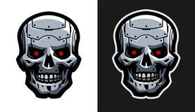 El cráneo del metal del robot Dos versiones Fotos de archivo libres de regalías