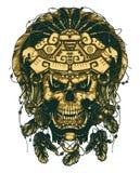 El cráneo en la máscara de Jaguar El guerrero azteca libre illustration