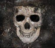 El cráneo oscuro asustadizo deshuesa la cara foto de archivo
