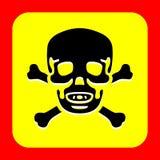 El cráneo y el icono de la bandera pirata grande para ningunos utilizan Vector eps10 Foto de archivo
