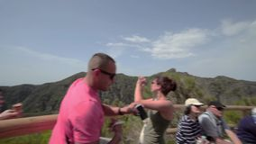 El cráter de Vesuvio almacen de metraje de vídeo