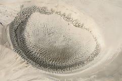 El cráter en la arena Fotografía de archivo libre de regalías
