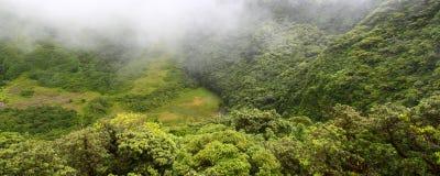 El cráter - santo San Cristobal Foto de archivo libre de regalías