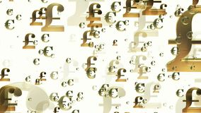 El crecer golpea y las muestras euro stock de ilustración