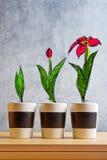 El crecimiento de la flor efectúa bosquejo Fotos de archivo