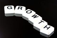 El crecimiento de la palabra - un término usado para el negocio en finanzas y el comercio del mercado de acción Foto de archivo libre de regalías