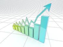 El crecimiento en asunto y la economía. Imagen de archivo libre de regalías