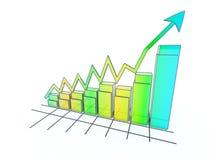 El crecimiento en asunto y la economía. Foto de archivo