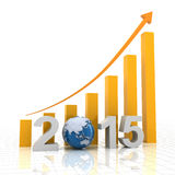 2015 el crecimiento global, 3d rinde ilustración del vector