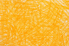 El creyón amarillo garabatea textura del fondo Imagenes de archivo