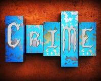 El crimen indica acto ilegal y el ejemplo criminal 3d libre illustration