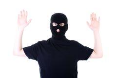 El criminal entregado en una máscara Foto de archivo libre de regalías