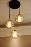 El cristal de cristal de lujo llevó la iluminación de la lámpara Foto de archivo libre de regalías