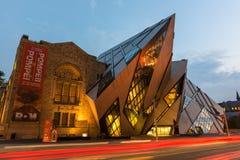 El cristal en el museo real de Ontario, Toronto Imagen de archivo
