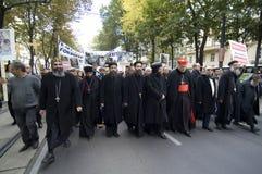 El cristiano de Egipto demuestra en Viena Fotografía de archivo