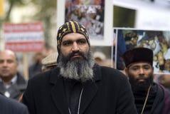 El cristiano de Egipto demuestra en Viena Imágenes de archivo libres de regalías