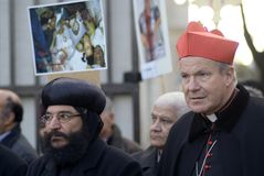 El cristiano de Egipto demuestra en Viena Fotos de archivo libres de regalías