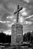 El crucifijo antiguo Imagen de archivo
