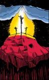 El Crucifixtion de Cristo Imagen de archivo