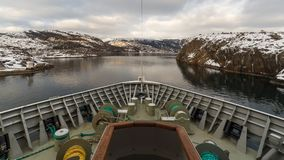El cruzar con un estrecho en Noruega Imagen de archivo