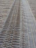 El cruzar de la playa Imagen de archivo