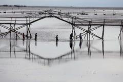 El cruzar debajo del puente del océano Imagen de archivo