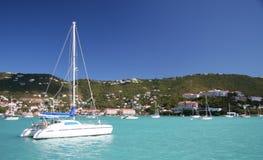 El cruzar del Caribe imagenes de archivo